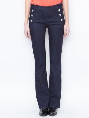 Raw jeans blue.