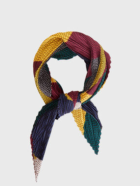 Pleated scarf multicolor.