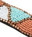 Ceinture élastique brodée de perles