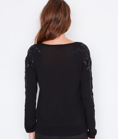 Sequin v-neck sweater