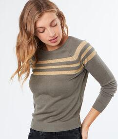 Stripped sweater khaki.