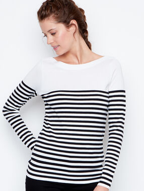 Striped sweater white.
