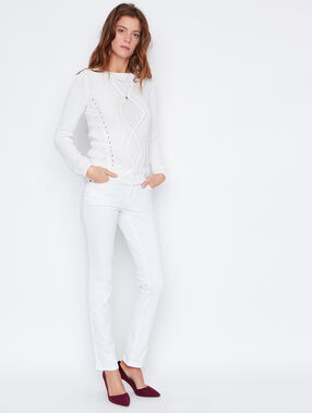Straight jeans white.