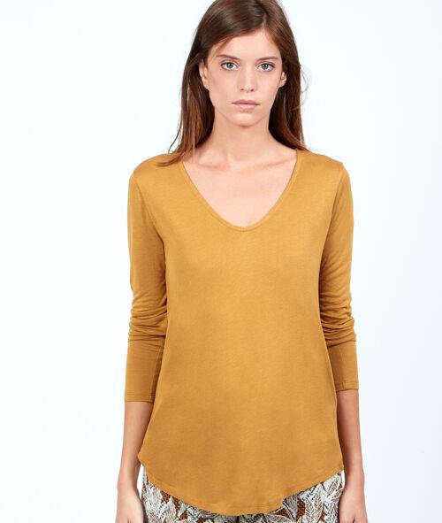 Camiseta holgada de cuello en V