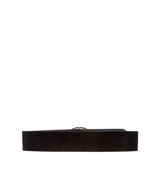 Wide glitter belt