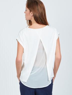 T-shirt dos ouvert doublé ecru.