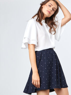 Flowing skirt marineblau.