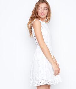 Open back dress white.