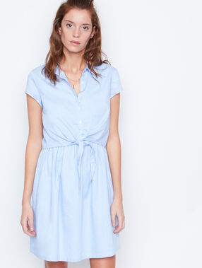 Short sleeve dress blue.