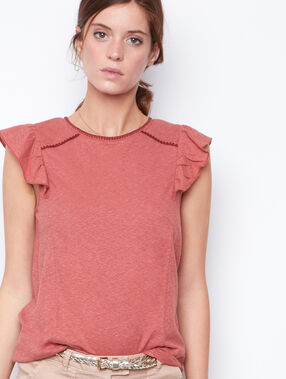 Sleeveless top pink.