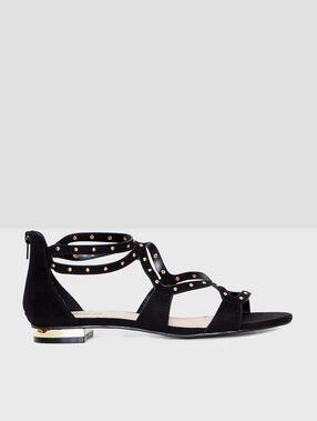 Sandale schwarz.