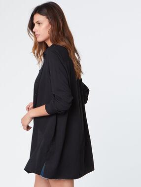 Long skirt black.