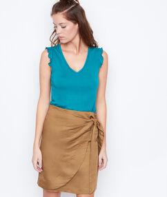 Falda de lino sabana.