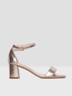 Heeled sandals gold.