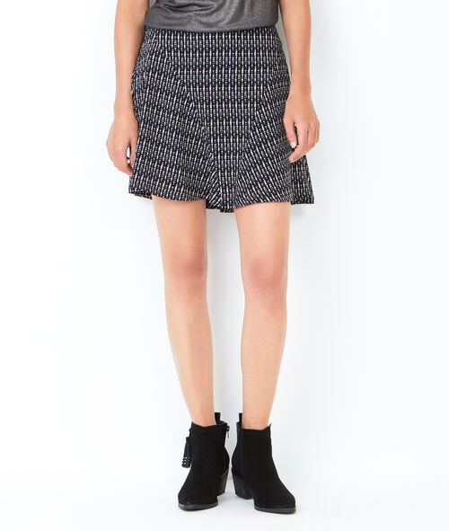 Fluid printed skirt