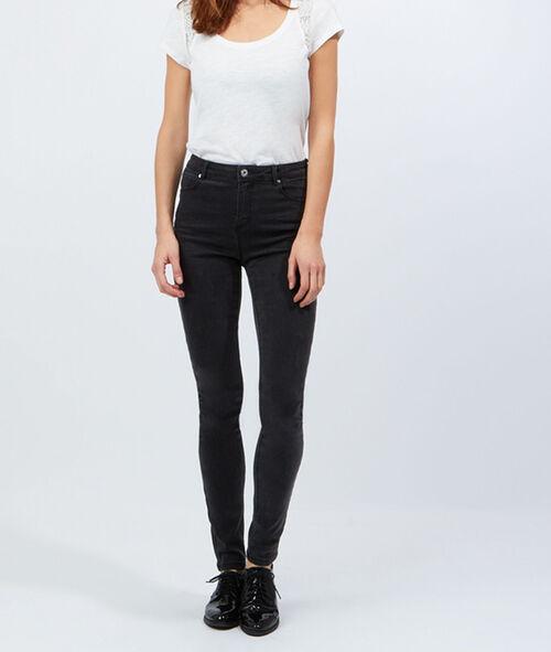 Cotton T-shirt, lace shoulder