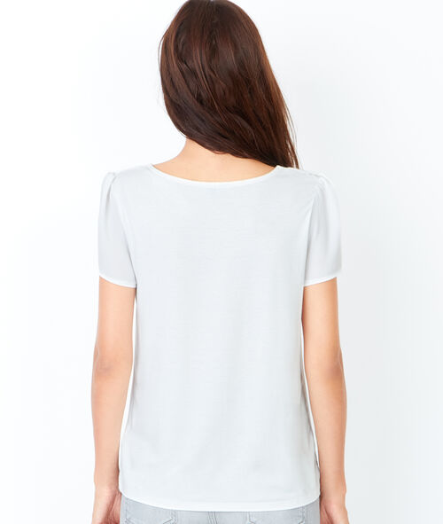 Short sleeve t-shirt with lace details
