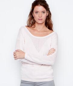 Round collar sweater pink.