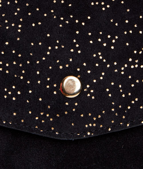 Glitter foldover clutch bag