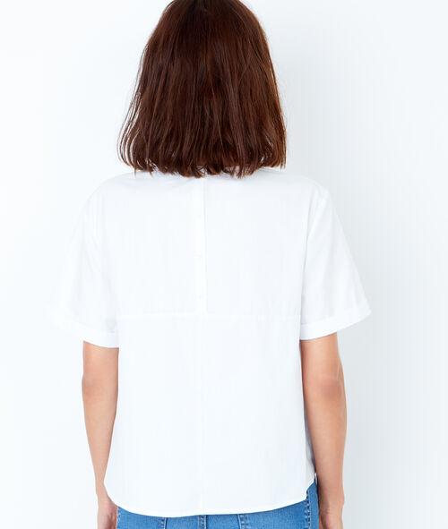Tie front short sleeve top