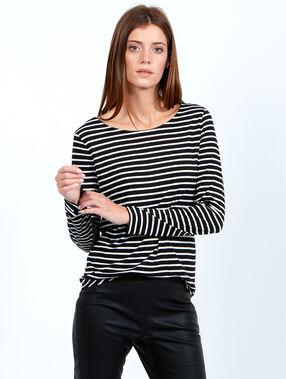 T-shirt marinière noir.