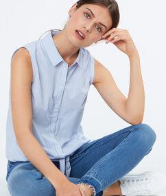 Sleeveless shirt lightblue.