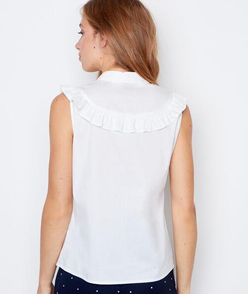 Chemise sans manches à volants