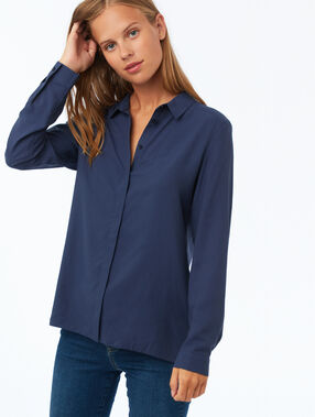 Long sleeve shirt navy.