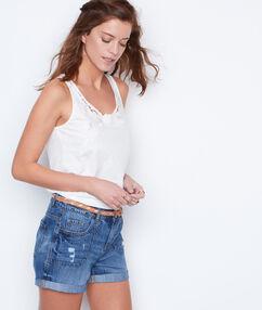 Short en jeans denim.