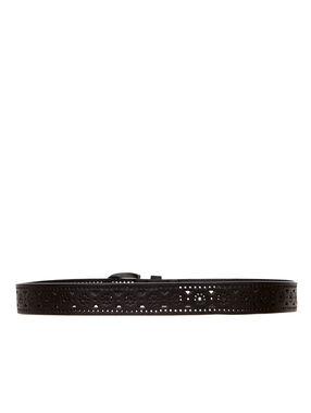 Perforated belt schwarz.