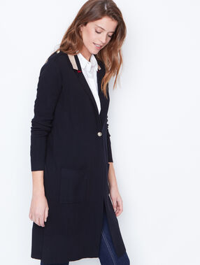 Navy inspired long cardigan navy.