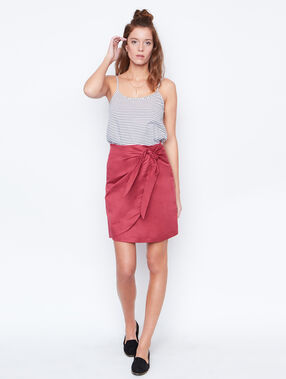 Linen skirt currant.