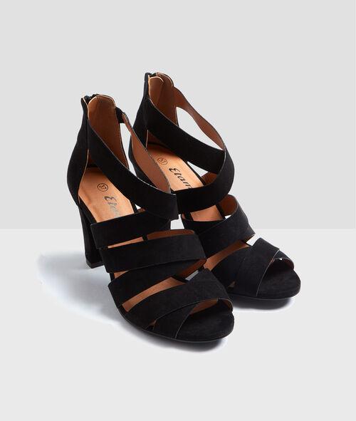 Sandales à talons croisées