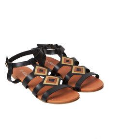 Sandales plates noir.