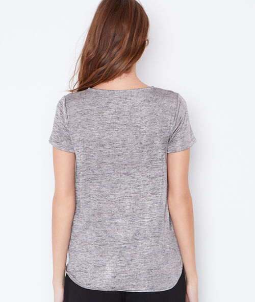 Round collar t-shirt in lurex