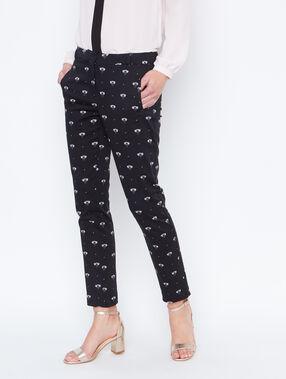 Pantalon à pinces noir.
