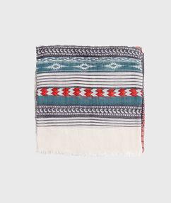 Foulard imprimé tribal kaki.