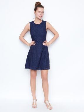 Lace dress navy.