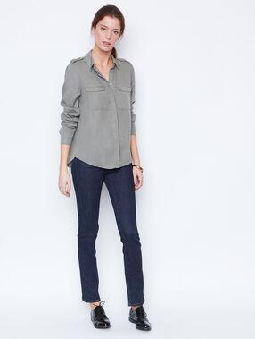 Long sleeves shirt khaki.