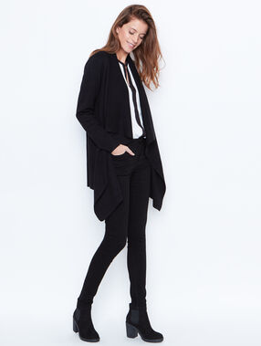 Waterfall cardigan black.