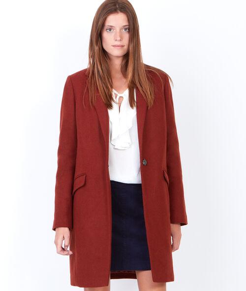 Manteau en laine à col tailleur