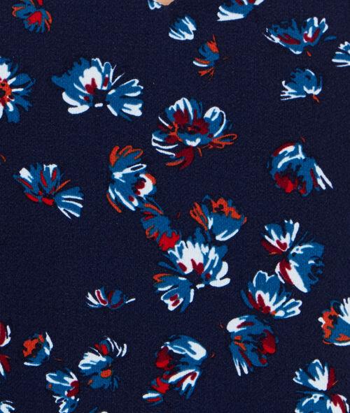 Robe col V à imprimés fleuris