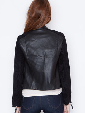 Faux leather jacket black.