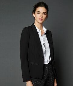 Blazer with slim lapel black.