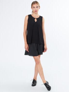 Dotted skirt black.