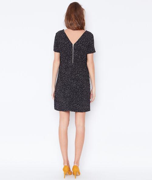 Dotty dress with V-neck back
