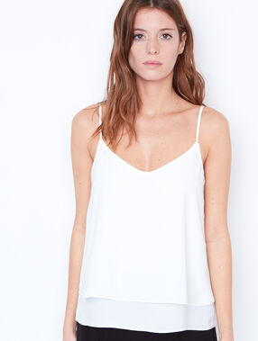 Double layer top off white.