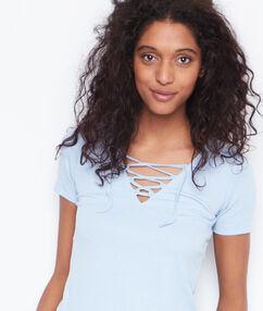 Short sleeves top lightblue.