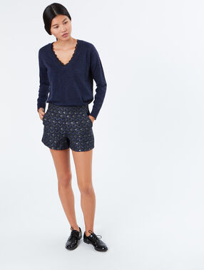 Jacquard shorts navy.