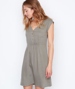 Sleeveless dress khaki.